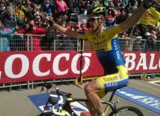 Michael Rogers winner stage 20 Giro 2014