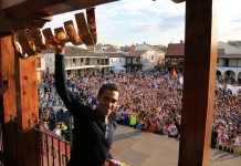 Alberto Contador In Pinto with Giro d'Italia trophy