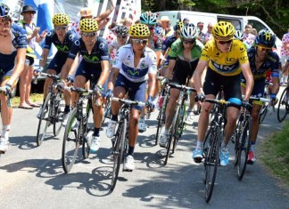 Tour de france favourites Chris Froome, Nairo Quintana and Alberto Contador