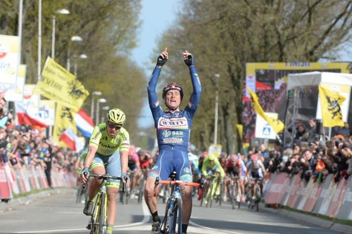 Enrico Gasparotto wins the 2016 Amstel Gold Race