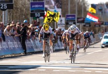 Lizzie Armitstead and Emma Johansson 2016 Tour of Flanders